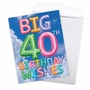 Creative Milestone Birthday Jumbo Printed Greeting Card From NobleWorksCards.com - Inflated Messages - 40 image 3