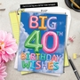Creative Milestone Birthday Jumbo Printed Greeting Card From NobleWorksCards.com - Inflated Messages - 40 image 6