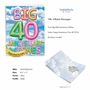 Stylish Milestone Anniversary Jumbo Card From NobleWorksCards.com - Inflated Messages - 40 image 2