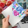 Humorous Milestone Birthday Paper Card From NobleWorksCards.com - Inflated Messages - 45 image 2