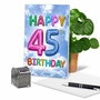 Humorous Milestone Birthday Paper Card From NobleWorksCards.com - Inflated Messages - 45 image 5