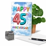 Humorous Milestone Anniversary Card From NobleWorksCards.com - Inflated Messages - 45 image 5