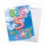Stylish Milestone Anniversary Jumbo Paper Greeting Card From NobleWorksCards.com - Inflated Messages - 5 image 3
