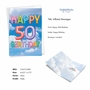 Stylish Milestone Birthday Card From NobleWorksCards.com - Inflated Messages - 50 image 2