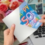 Stylish Milestone Birthday Card From NobleWorksCards.com - Inflated Messages - 50 image 3