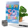 Stylish Milestone Birthday Card From NobleWorksCards.com - Inflated Messages - 50 image 6