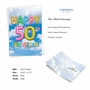 Creative Milestone Anniversary Greeting Card From NobleWorksCards.com - Inflated Messages - 50 image 2
