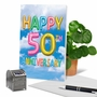Creative Milestone Anniversary Greeting Card From NobleWorksCards.com - Inflated Messages - 50 image 6