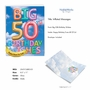 Creative Milestone Birthday Jumbo Greeting Card From NobleWorksCards.com - Inflated Messages - 50 image 2