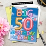 Creative Milestone Birthday Jumbo Greeting Card From NobleWorksCards.com - Inflated Messages - 50 image 6
