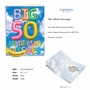 Stylish Milestone Anniversary Jumbo Paper Card From NobleWorksCards.com - Inflated Messages - 50 image 2