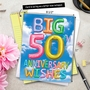 Stylish Milestone Anniversary Jumbo Paper Card From NobleWorksCards.com - Inflated Messages - 50 image 6