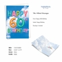 Stylish Milestone Birthday Paper Card From NobleWorksCards.com - Inflated Messages - 60 image 2
