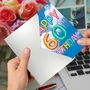 Stylish Milestone Birthday Paper Card From NobleWorksCards.com - Inflated Messages - 60 image 3