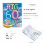 Stylish Milestone Anniversary Jumbo Paper Greeting Card From NobleWorksCards.com - Inflated Messages - 60 image 2