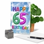 Funny Milestone Birthday Paper Greeting Card From NobleWorksCards.com - Inflated Messages - 65 image 5