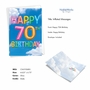 Stylish Milestone Birthday Paper Greeting Card From NobleWorksCards.com - Inflated Messages - 70 image 2