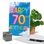 Stylish Milestone Birthday Paper Greeting Card From NobleWorksCards.com - Inflated Messages - 70 image 6