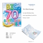 Creative Milestone Birthday Jumbo Printed Greeting Card From NobleWorksCards.com - Inflated Messages - 70 image 2
