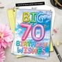 Creative Milestone Birthday Jumbo Printed Greeting Card From NobleWorksCards.com - Inflated Messages - 70 image 6