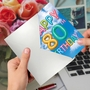Stylish Milestone Birthday Card From NobleWorksCards.com - Inflated Messages - 80 image 3