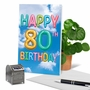 Stylish Milestone Birthday Card From NobleWorksCards.com - Inflated Messages - 80 image 6