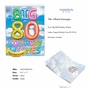 Creative Milestone Birthday Jumbo Greeting Card From NobleWorksCards.com - Inflated Messages - 80 image 2