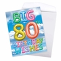 Creative Milestone Birthday Jumbo Greeting Card From NobleWorksCards.com - Inflated Messages - 80 image 3
