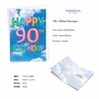 Stylish Milestone Birthday Paper Card From NobleWorksCards.com - Inflated Messages - 90 image 2