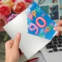 Stylish Milestone Birthday Paper Card From NobleWorksCards.com - Inflated Messages - 90 image 3