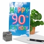 Stylish Milestone Birthday Paper Card From NobleWorksCards.com - Inflated Messages - 90 image 6