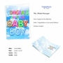 Stylish Baby Card From NobleWorksCards.com - Inflated Messages - Baby Boy image 2
