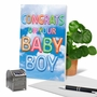Stylish Baby Card From NobleWorksCards.com - Inflated Messages - Baby Boy image 6
