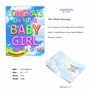 Stylish Baby Jumbo Paper Greeting Card From NobleWorksCards.com - Inflated Messages - Baby Girl image 2
