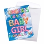 Stylish Baby Jumbo Paper Greeting Card From NobleWorksCards.com - Inflated Messages - Baby Girl image 3