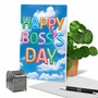 Creative Boss's Day Printed Greeting Card From NobleWorksCards.com - Inflated Messages - Boss's Day image 6