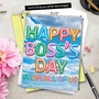 Stylish Boss's Day Jumbo Paper Card From NobleWorksCards.com - Inflated Messages - Boss's Day image 6