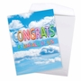 Stylish Congratulations Jumbo Paper Card From NobleWorksCards.com - Inflated Messages - Congrats image 3