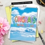 Stylish Congratulations Jumbo Paper Card From NobleWorksCards.com - Inflated Messages - Congrats image 6