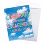 Creative Engagement Jumbo Printed Greeting Card From NobleWorksCards.com - Inflated Messages - Engagement image 3
