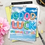 Creative Good Luck Jumbo Printed Greeting Card From NobleWorksCards.com - Inflated Messages - Good Luck image 6