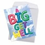 Creative Get Well Jumbo Greeting Card From NobleWorksCards.com - Inflated Messages image 2
