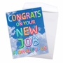 Stylish New Job Jumbo Paper Greeting Card From NobleWorksCards.com - Inflated Messages - New Job image 3