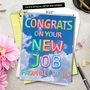Stylish New Job Jumbo Paper Greeting Card From NobleWorksCards.com - Inflated Messages - New Job image 6