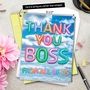 Creative Boss Thank You Jumbo Greeting Card From NobleWorksCards.com - Inflated Messages - Thank You Boss image 6