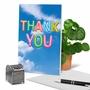 Stylish Thank You Paper Greeting Card From NobleWorksCards.com - Inflated Messages - Thank You image 6