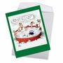 Hilarious Merry Christmas Jumbo Greeting Card By Glenn McCoy From NobleWorksCards.com - Invite Frosty image 2