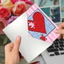 Creative Valentine's Day Greeting Card From NobleWorksCards.com - Jigsaw Hearts image 3