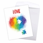 Creative Valentine's Day Jumbo Printed Card From NobleWorksCards.com - Jigsaw Hearts image 3