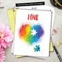 Creative Valentine's Day Jumbo Printed Card From NobleWorksCards.com - Jigsaw Hearts image 6